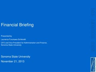 Financial Briefing