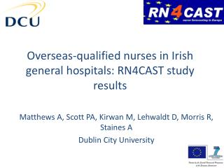 Overseas-qualified nurses in Irish general hospitals: RN4CAST study results