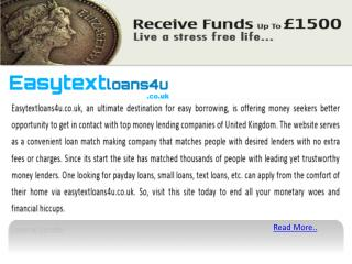 Text Loans Online