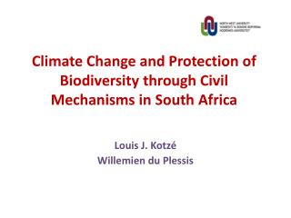 Climate Change and Protection of Biodiversity through Civil Mechanisms in South Africa