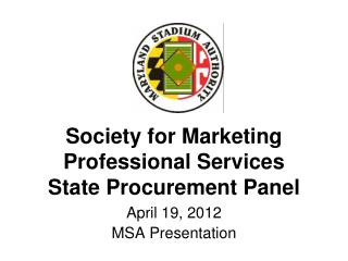Society for Marketing Professional Services State Procurement Panel