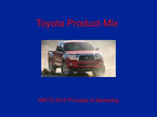 Toyota Product-Mix