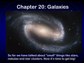 Chapter 20: Galaxies