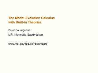 The Model Evolution Calculus with Built-in Theories