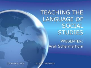 TEACHING THE LANGUAGE OF SOCIAL STUDIES