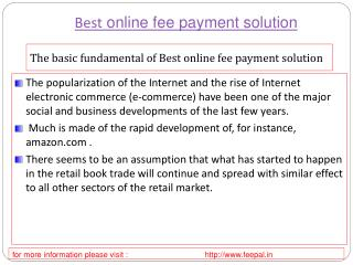 Discussion is to prepare best online fee payment solution