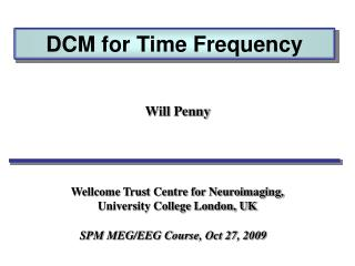 DCM  for  Time Frequency