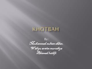KHOTBAH
