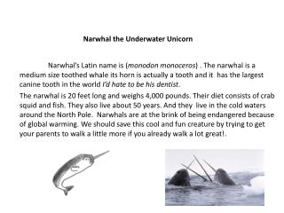 Narwhal the Underwater Unicorn