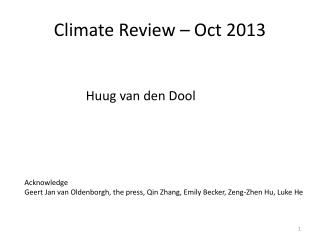 Climate Review – Oct 2013