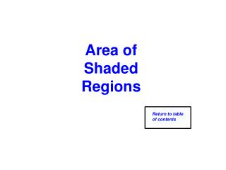 Area of Shaded Regions