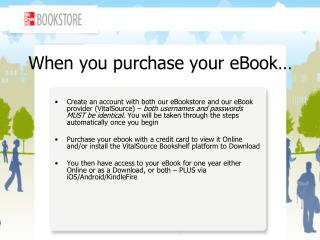 When you purchase your eBook�