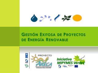 Gestión Exitosa de Proyectos de Energía Renovable