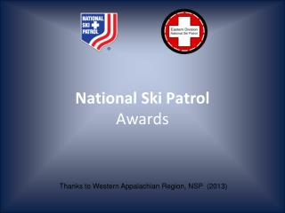 National Ski Patrol Awards