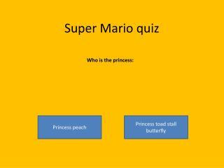 Super Mario quiz