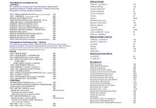 DEPILACIONES PIERNAS  COMPLETAS 16€ PIERNAS MEDIAS 10€ INGLES NORMALES 7€