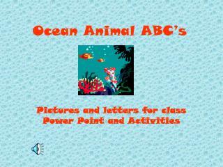 Ocean Animal ABC's