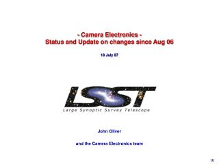 - Camera Electronics -  Status and Update on changes since Aug 06 18 July 07
