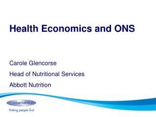 Health Economics and ONS