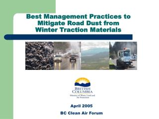 Best Management Practices to  Mitigate Road Dust from Winter Traction Materials