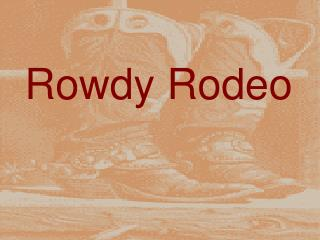 Rowdy Rodeo