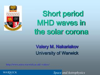 Short period MHD waves in the solar corona