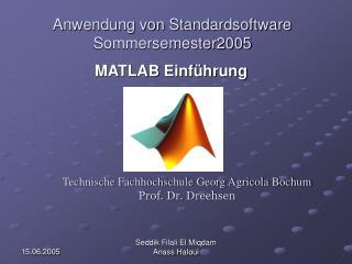 Technische Fachhochschule Georg Agricola Bochum  Prof. Dr. Dreehsen