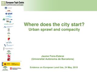 Where does the city start?  Urban sprawl and compacity