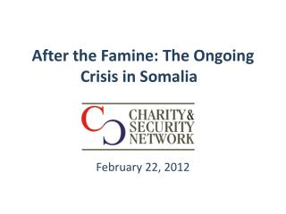 After the Famine: The Ongoing Crisis in Somalia