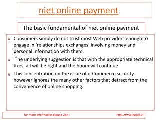 Choose New Options to submitted Your niet online payment