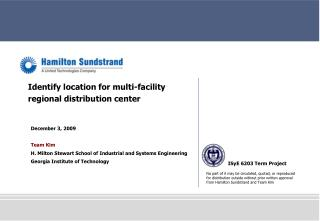 Identify location for multi-facility regional distribution center