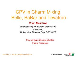 CPV in Charm Mixing  Belle, BaBar and Tevatron