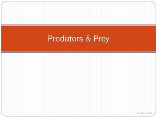 Predators & Prey