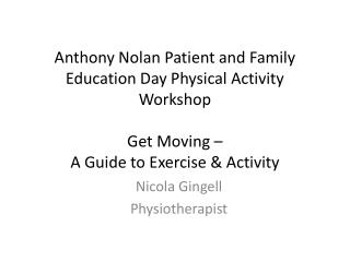 Nicola Gingell Physiotherapist