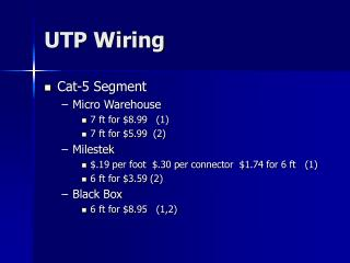 UTP Wiring