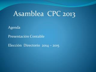 Asamblea  CPC 2013
