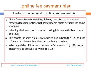 Some Simple Safety tips to online fee payment niet