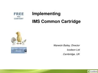 Implementing  IMS Common Cartridge