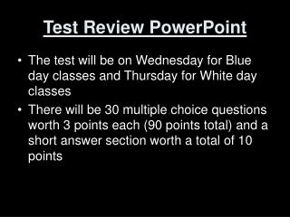 Test Review PowerPoint