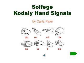 Solfege  Kodaly Hand Signals