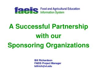 A Successful Partnership with our Sponsoring Organizations