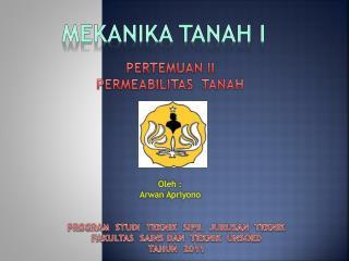 MEKANIKA TANAH I