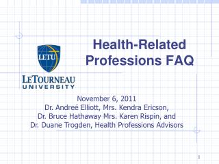 Health-Related Professions FAQ
