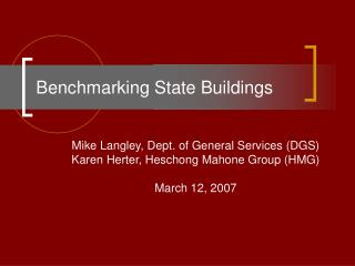 Benchmarking State Buildings
