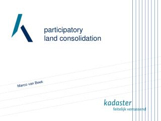 participatory  land consolidation