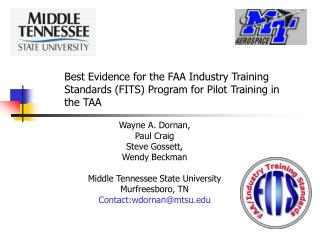 Best Evidence for the FAA Industry Training Standards (FITS) Program for Pilot Training in the TAA