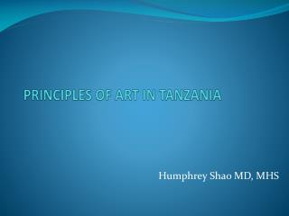 PRINCIPLES OF ART IN TANZANIA