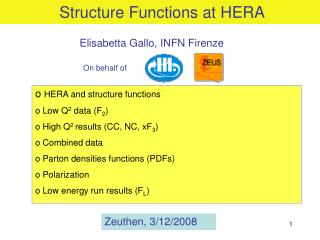 Structure Functions at HERA