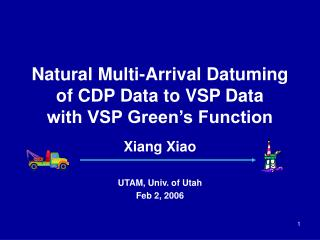 Natural Multi-Arrival Datuming of CDP Data to VSP Data  with VSP Green's Function