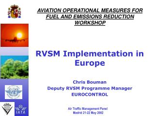 AVIATION OPERATIONAL MEASURES FOR FUEL AND EMISSIONS REDUCTION WORKSHOP